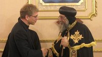 General secretary and Pope Tawadros II discuss hopes for church in Egypt