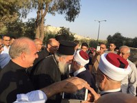 Muslims and Christians pray together for just peace in Al Aqsa Mosque